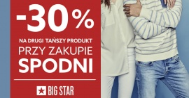 -30% na drugi produkt w Big Star